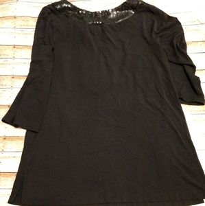 AGB Tops - 4/$10 AGB Black Sequin Tunic Small
